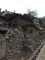 Houses in Kamru village are built in stone, slate-slabs, and wood. Photo: sanjay mukherjee