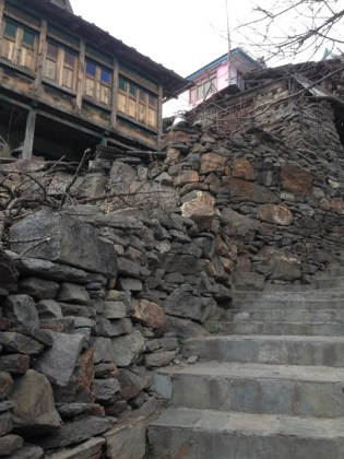 Wood and stone edifices dot the landscape of the village. Photo: sanjay mukherjee