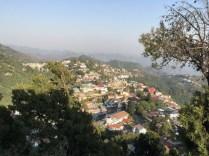 Sneaking a peek of Mussoorie from Gun Hill; Photo: Swarjit Samajpati