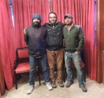 The Mountain Walker team (Left - Right): Sanjay, Ameen and Abhishek