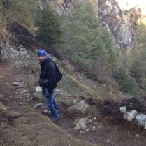 """Abhishek headed back down from Shaali Tibba (Peak) after yet another """"jog in the park"""""""
