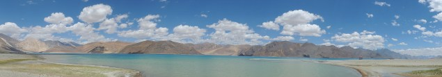 Part of the Pangong Tso lake lies in Ladakh, India and extends into Tibet, China; Photo: Abhishek Kaushal