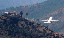 Only a handful of pilots are certified to land and take-off at Paro airport. Photo: Kaushik Naik
