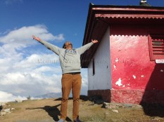 Mountain Walker's Chief of Operations, Ameen, takes in the atmosphere of Shaali Tibba temple