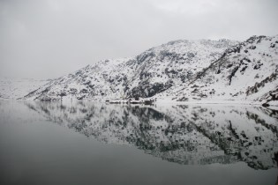 Rippled mirror effect of Tsomgo Lake; Photo: Abhishek Kaushal