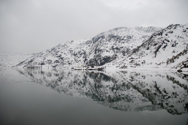 This is an image of Tsomgo Lake in Ladakh