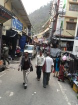 The typical narrow lanes of Indian hill town markets as seen in the Uttarkashi market; Photo: Swarjit Samajpati