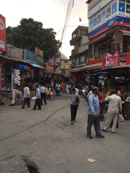 Deciding where to go next at one of the Uttarkashi Market Squares; Photo: Swarjit Samajpati