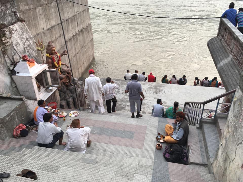 The Manikarnika Ghat at Uttarkashi seems a better place to hang out; Photo: Swarjit Samajpati