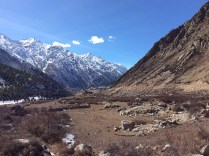View of Chitkul village as we head back towards Raksham. Photo: sanjay mukherjee