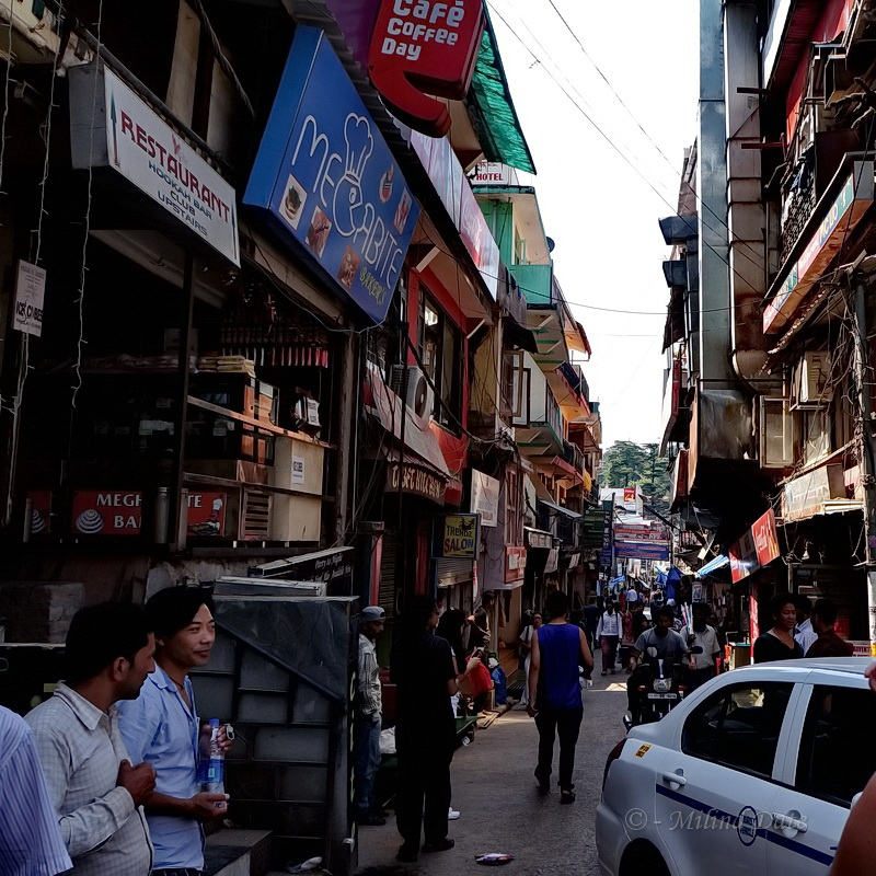 The lanes around McLeodganj's Main Square is a beehive of activity. Photo: Milind Date.