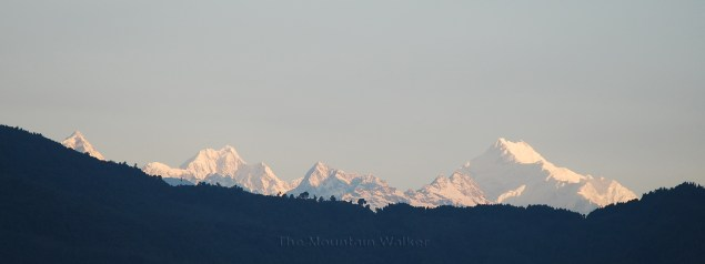 Sunrise on Kanchenjunga peak as seen from Gangtok, Sikkim; Photo: Abhishek Kaushal