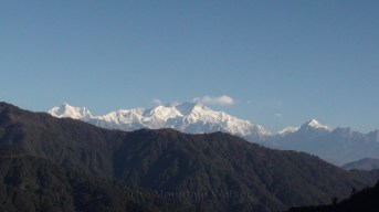 Bright morning sun on Kanchenjunga as seen from Joubari, West Bengal; Photo: Abhishek Kaushal