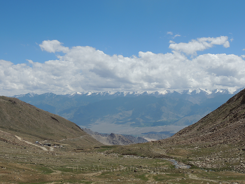 View of high mountains and Nubra valley on the way down from Khardungla Pass; Photo: Abhishek Kaushal