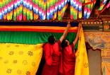 Preparations for the King's arrival continue at Punakha Dzong; Photo: Kaushik Naik