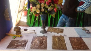 Moulded Bronze and Copper artefacts for sale at the festival; Photo: Abhinav Kaushal