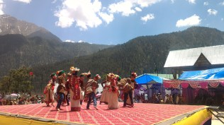 Dancing to local tunes in traditional attire; Photo: Abhinav Kaushal
