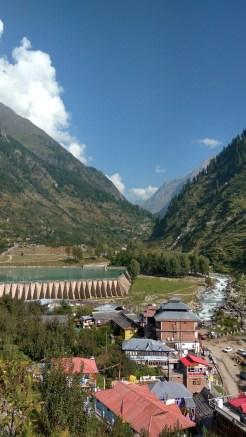 View of Kafnu village and the Bhabha Dam; Photo: Ameen Shaikh.