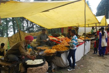 One of the many jalebi, barfi and pakora stalls; Photo: Abhinav Kaushal