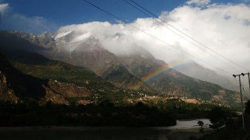 Rainbow over Sangla Valley after a day's snow; Photo: Rahul Negi