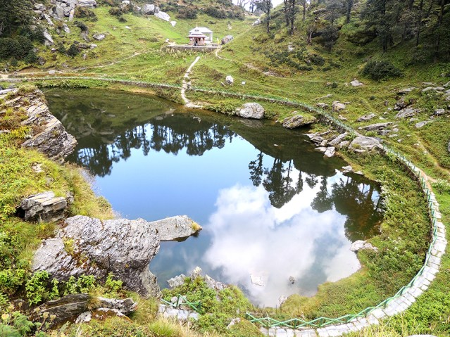 This is an image of Serolsar Lake near Jalori Pass in Himachal Pradesh