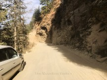 The cars pick up the colour of the road ahead of Kotkhai; Photo: Abhinav Kaushal