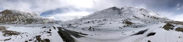 Panorama captured along the Kaza-Lossar Road near Rangrik; Photo: Abhinav Kaushal