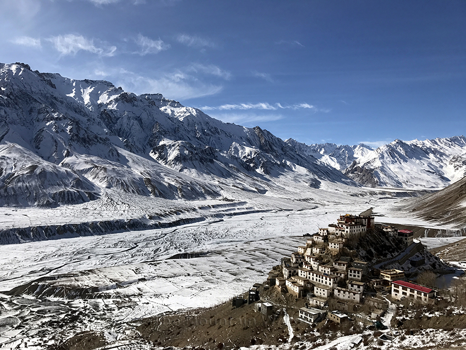 Key Monastery, Lahaul and Spiti, Himachal Pradesh, India.