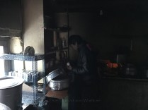 Chef at work at Poonam Dhaba