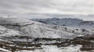 The beautiful view of the village Komic, Spiti, Himachal Pradesh