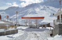 The Highest Retail Petrol Outlet in the World at Kaza as the sun comes out.