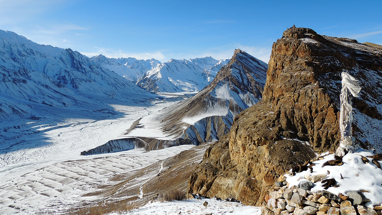 Spiti Valley, near Gettey, Lahaul and Spiti, Himachal Pradesh, India.