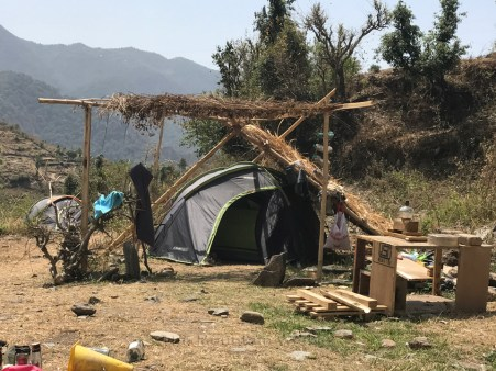 Tents pitched by participants in Geeli Mitti Farms; Photo: Abhinav Kaushal