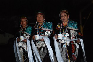 Women from Kaza waiting to welcome the Chief Guest in a traditional manner; Photo: Abhinav Kaushal