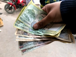 The first foreign currency I have gotten myself - Nepalese Rupee; Photo: Abhinav Kaushal