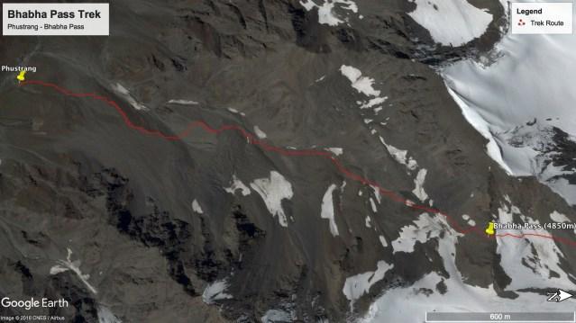 Bhabha Pass Trek - Route from Phustrang to Bhabha Pass