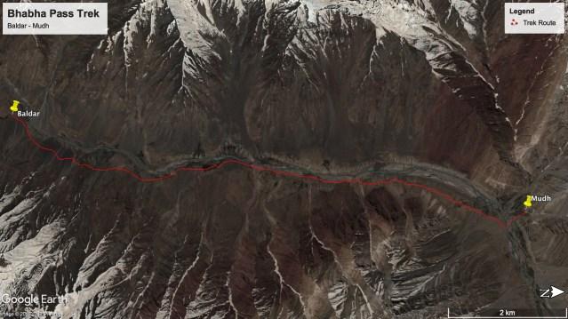 Bhabha Pass Trek - Route from Baldar to Mudh