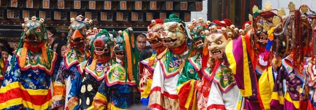 Thimphu Tshechu - Annual religious Bhutanese festival; Photo: Swarjit Samajpati