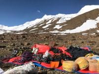 Taking stock of mountaineering expedition equipment; Photo: Swarjit Samajpati