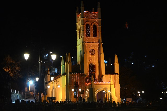 Christ Church on The Ridge, Shimla, on Christmas Day 2018