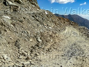 'Remote Chamba SachPass Satrundi' by Ameen Shaikh shows a hair-pin bend section of the remote road from Sach Pass to Satrundi in Chamba district.