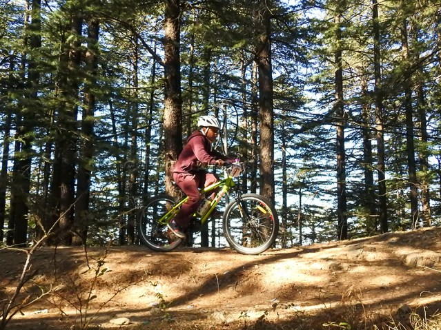 Young talent getting experience of participating in MTB race