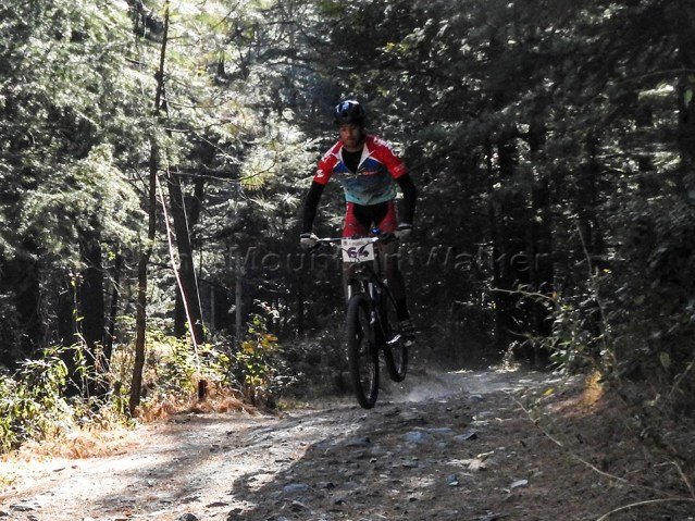 Akash Sherpa speeding down the trail
