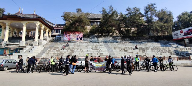 Participants at the venue of Mandi event