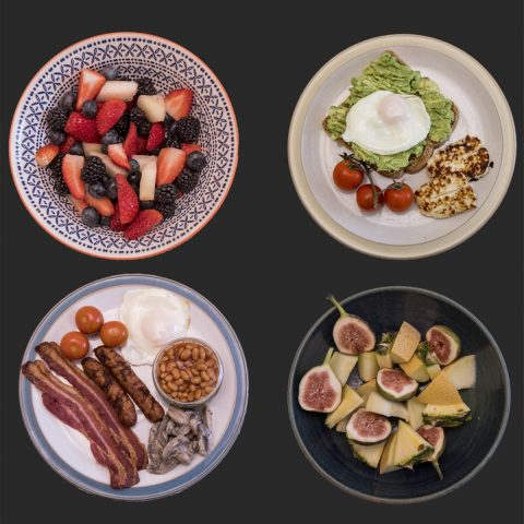 Delicious breakfasts including a variety of vegetarian options