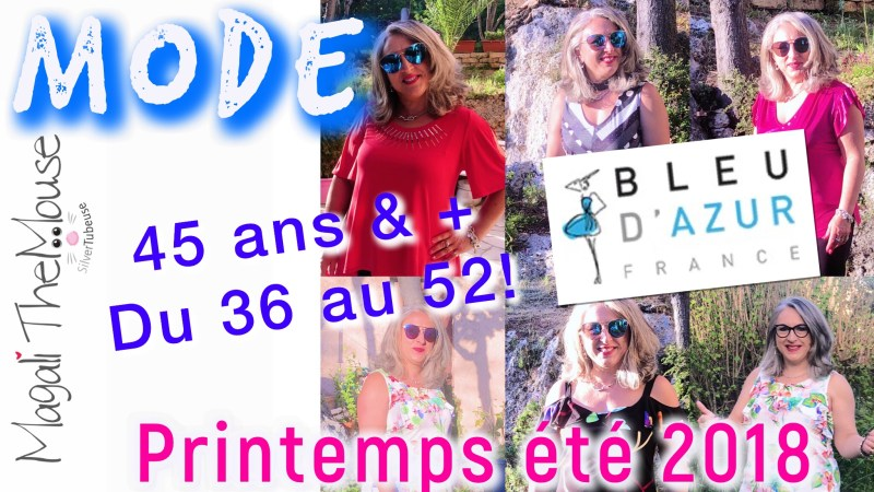 MODE LOOKBOOK BLEU D'AZUR PRINTEMPS ÉTÉ 2018