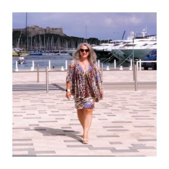 50 ans, Mode, tendances, idee look, Fashion, quinqua, orna fahro, leopard, graou, voile
