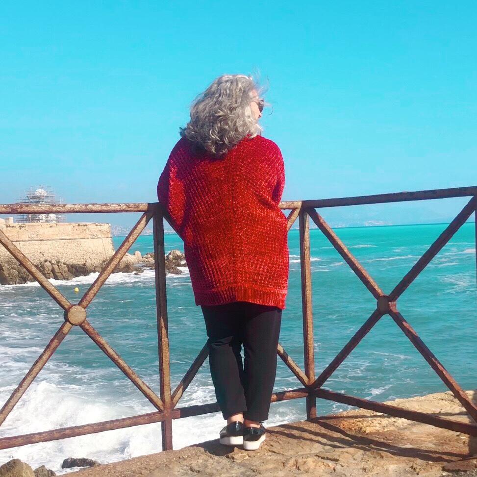 Idée look, Fashion, 50 ans, quinqua, mode, tendances, Mer, mer déchaînée, grognon, antibes, mer, port vauban, ethnique,