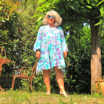 50 ans, MinoDuSud, mode Quinqua, fdjshoes, one day one look, look, teambeautesmajuscules, quinqua, tendances, turquoise, idee look, chaussure, Fashion, Mode,