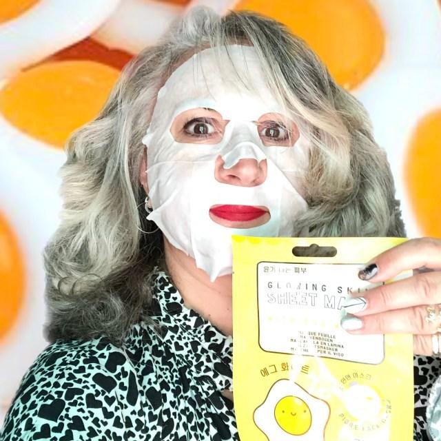 beauty, blancdoeuf, makeup, silversisters, coreen, silverhair, masqueeclat, maskchallengeunecitadine, makeupgeek, matricaria, mask, masque, oeuf,